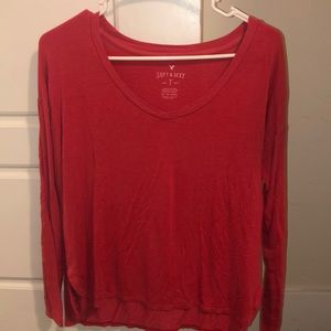 Long sleeve red shirt